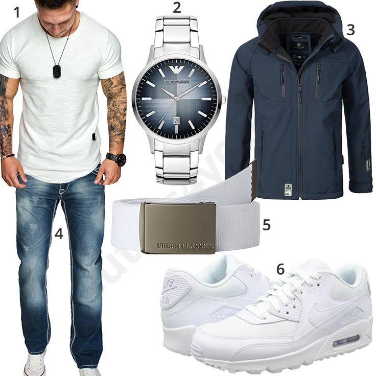 Street-Style mit weißem Shirt, Sneakern und Armani Uhr – Gee Gee