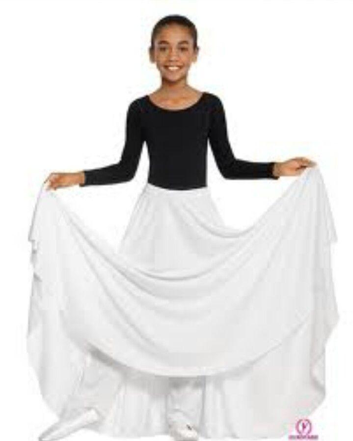 Black White Girls Praise Dance Outfit Praise Dance Clothing