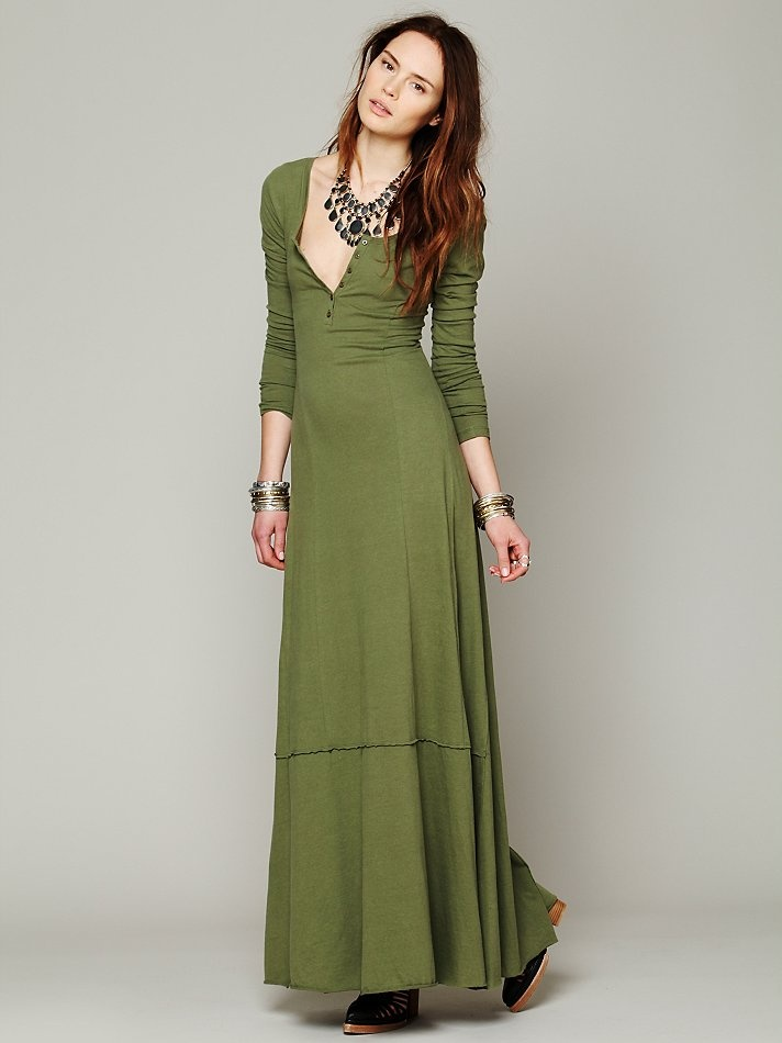 Free People Miles of Henley Dress, $88.00
