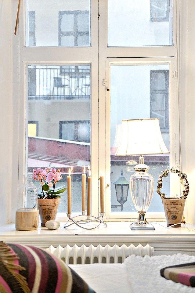 Cute little additions for the windowsill interior - Bedroom window sill ideas ...