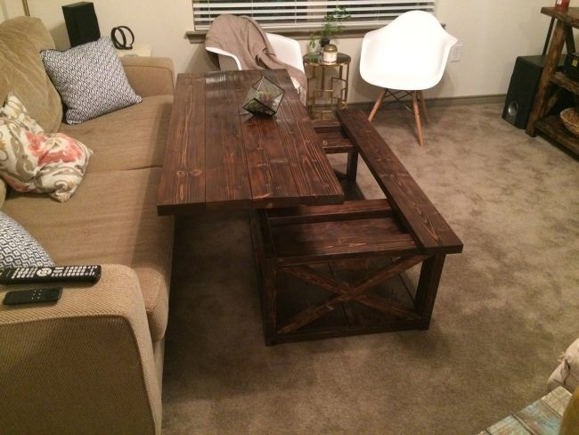 Add A Little Spice To Your Living Room With A Coffee Table That Raises Up  So You Can Eat Dinner While You Watch TV