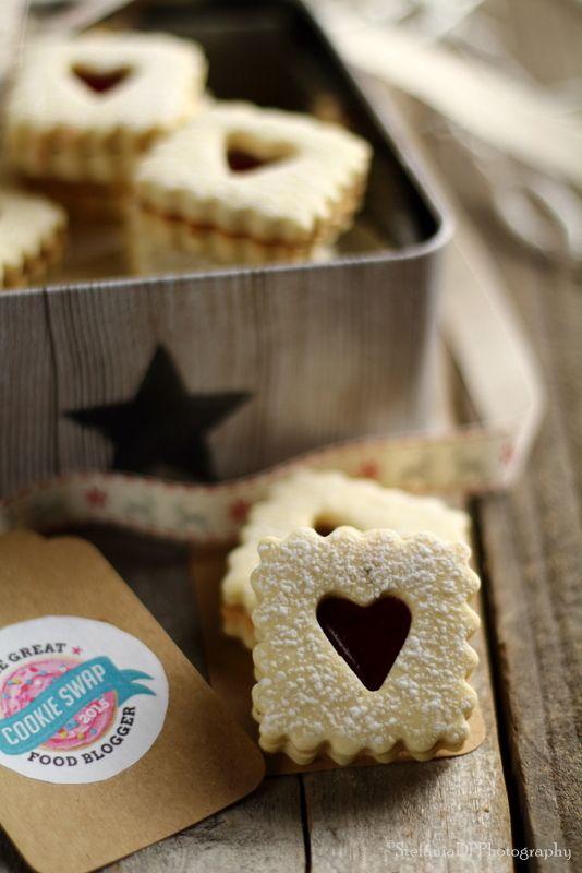 Formine e Mattarello: Biscotti al lime e fragola...il mio cookie swap