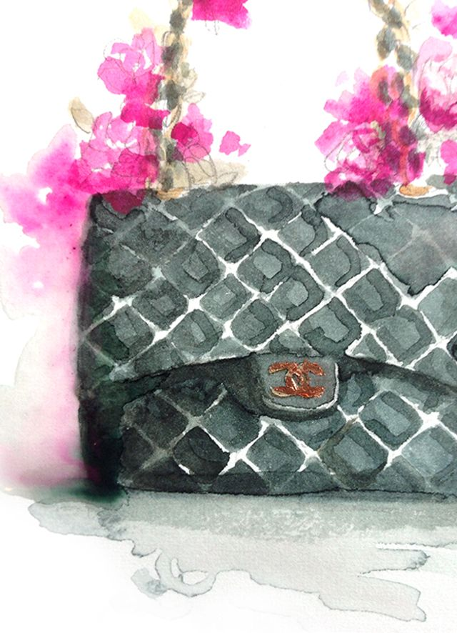707d51662b3b90 Chanel watercolor painting by Paper Fashion   L O V E   Paper fashion,  Fashion, Fashion sketches
