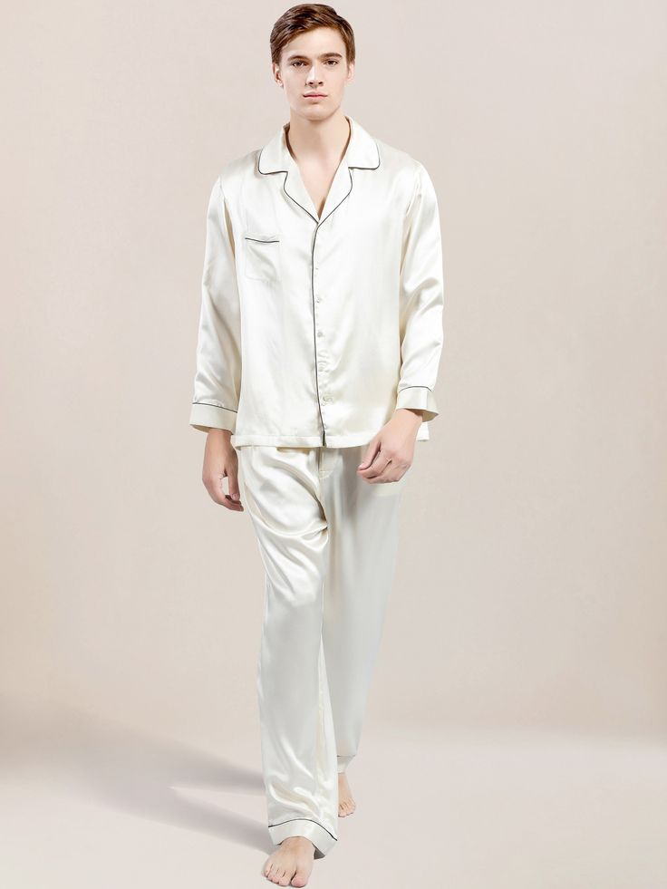 Luxury silk pajamas for men are crafted from the finest pure silk and finished with the utmost care and attention.