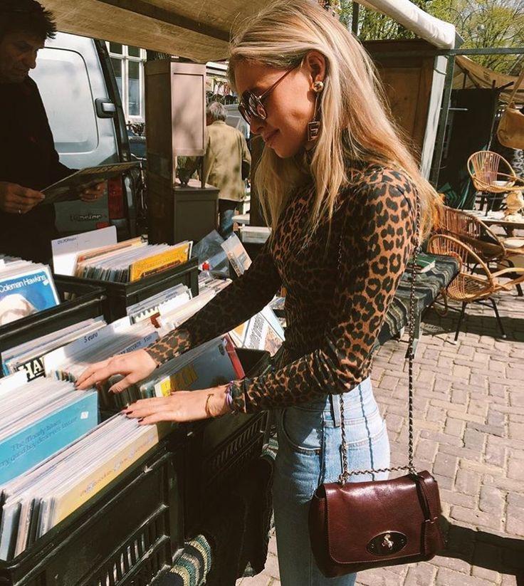 Claartje Rose, Dutch Blogger, leopard print shirt