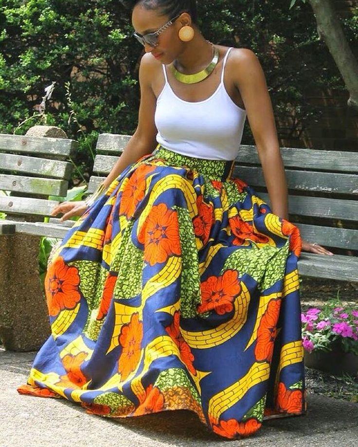 Ankara maxi skirt