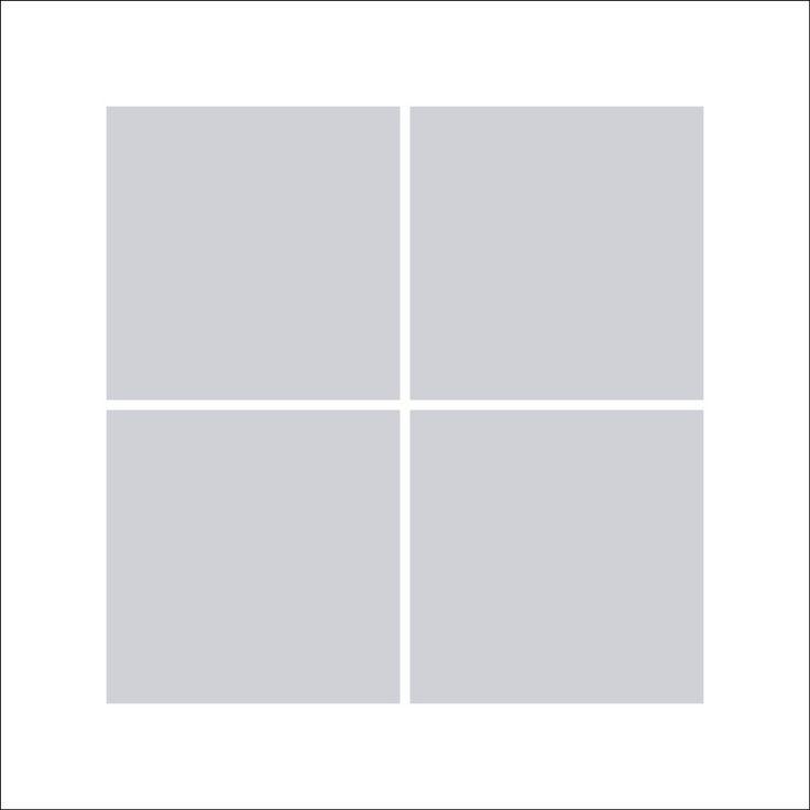 Fotocollage 40x40 | 4 Bilder Quadratisch