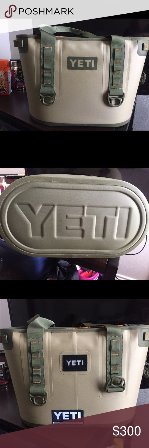 Yeti cooler bag Is in very good condition I just don't want it anymore! Although there's a Yeti sticker on it that I put on it in college. Willing to negotiate price due to that! The offer I have isn't set so feel free to make an offer :) Yeti Bags
