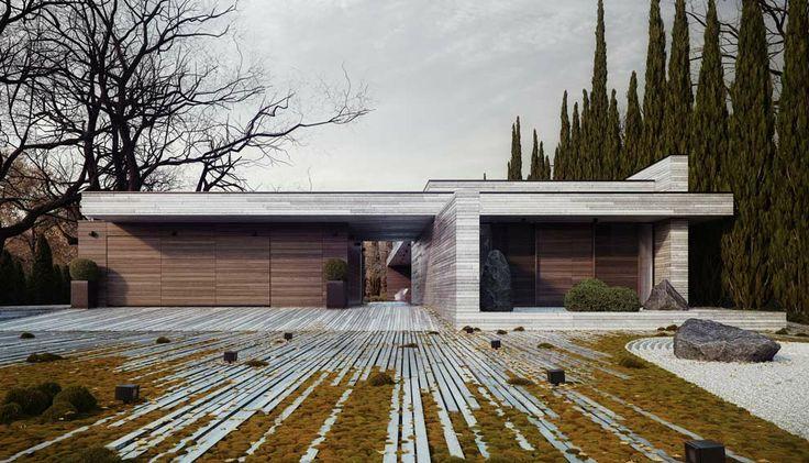 DOM HORYZONTALNY / Horizontal house near Warsaw Poland project 81.WAW.PL // http://81.waw.pl/ / visualization by OMI MEDIA PRODUCTION & MICHAŁ NOWAK // http://www.michal-nowak.com/108651/972894/gallery/horizontal /