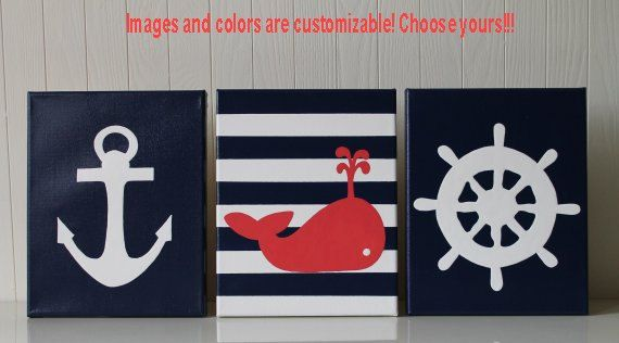 Nautical Nursery Wall Decor pirate nurserypainting decor nautical nursery boys pirate decor