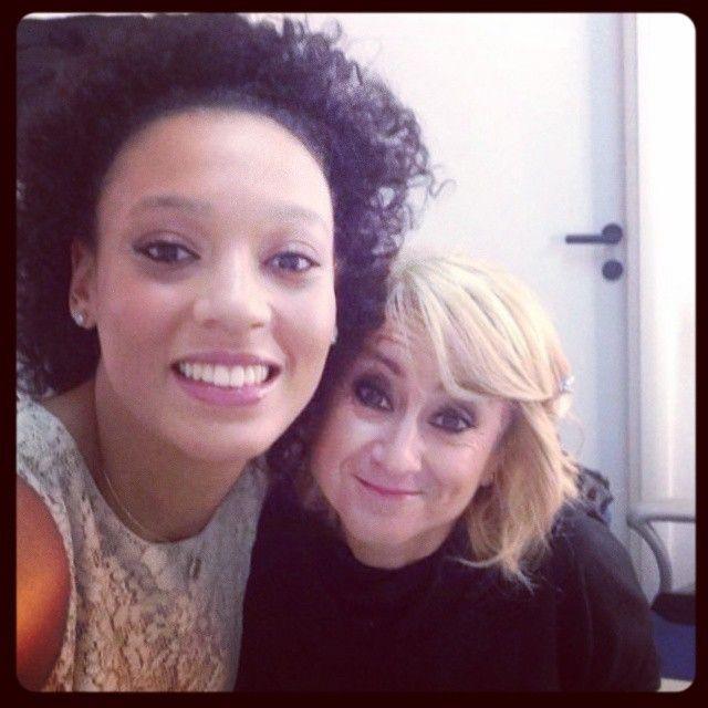 #Volleyselfie di Valentina Diouf e Luciana Littizzetto prima della puntata di Che tempo che fa... di domenica 19 ottobre 2014.