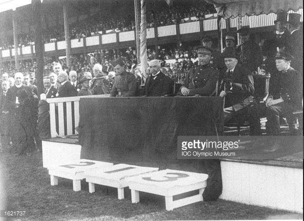 Nieuwsfoto's : Baron Pierre de Coubertin President of the...