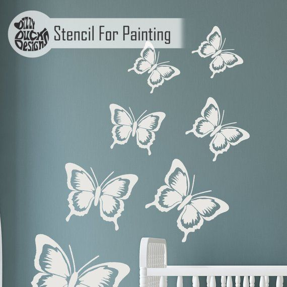 Sophie The Butterfly Stencil Children Es Room Girls Room Nursery