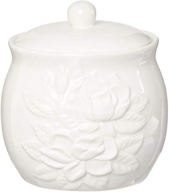 House of Fraser Shabby Chic White debossed floral cotton jar on shopstyle.co.uk