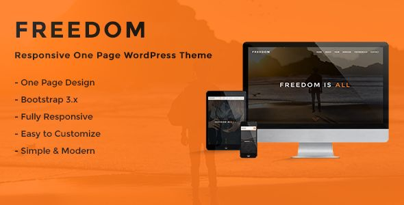 Freedom - Responsive One Page WordPress Theme