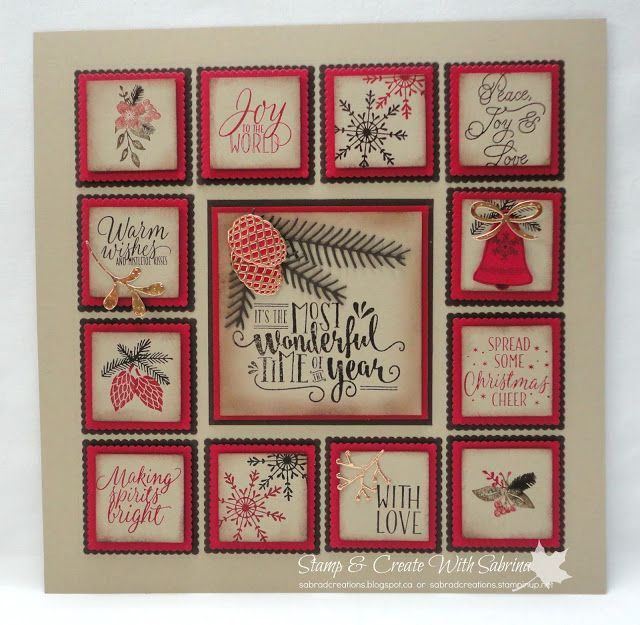 Stamp & Create With Sabrina: Christmas Sampler Home Decor Project - Class