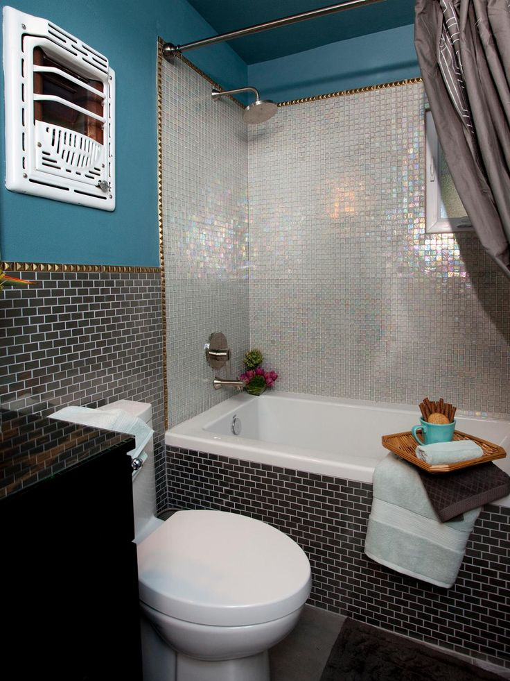Pic Of HGTV us Property Brothers transformed this small bathroom with luxurious tile and updated fixtures The shower us