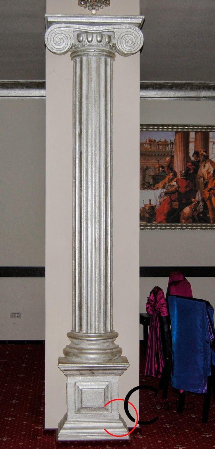 Coloane polistiren ionice, restaurant, sala nunti