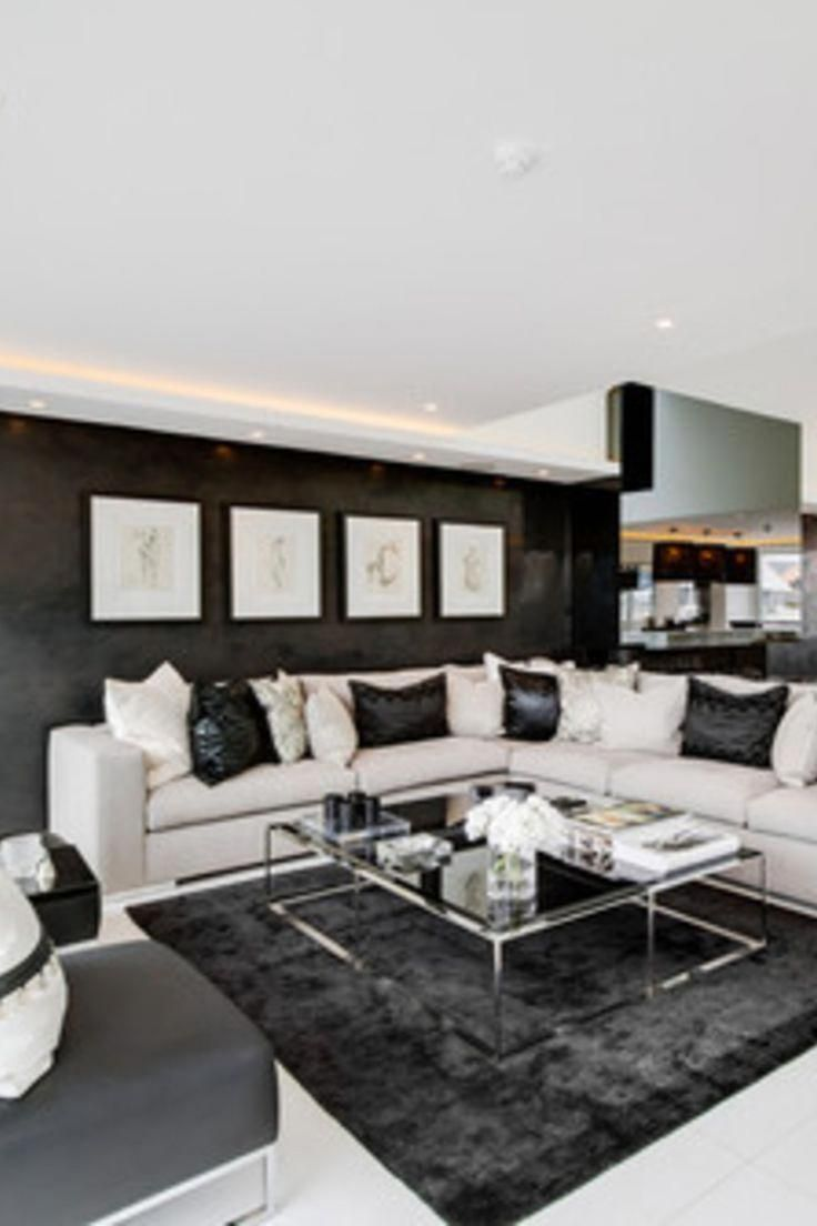 30 Living Room With Sectional Ideas Black And White Open Concept Modern Living Room Modernh Open Concept Living Room Black Living Room Living Room Sectional