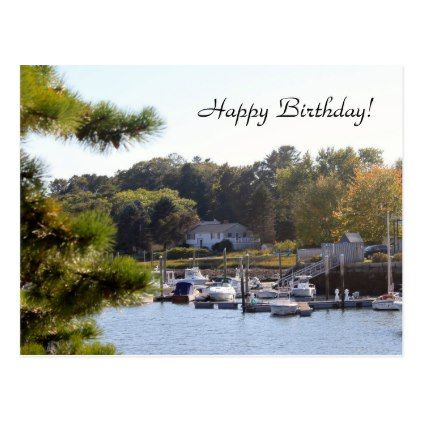 Boat Marina 7322 Birthday Postcard - postcard post card postcards unique diy cyo customize personalize