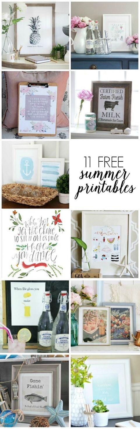 11 Free Summer Printables eclecticallyvintagecom 1731 best