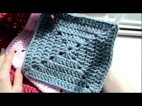 PART 1 - Crochet Lessons - How to work the solid granny square - The best tuto I have ever seen ! very clear ! perfect !