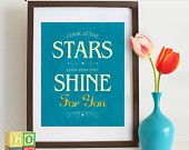 Star Quote Print, Coldplay song lyrics, Twinkle twinkle little star, stars, Love Song, Love quote, stars, nursery print, Typography Item 113