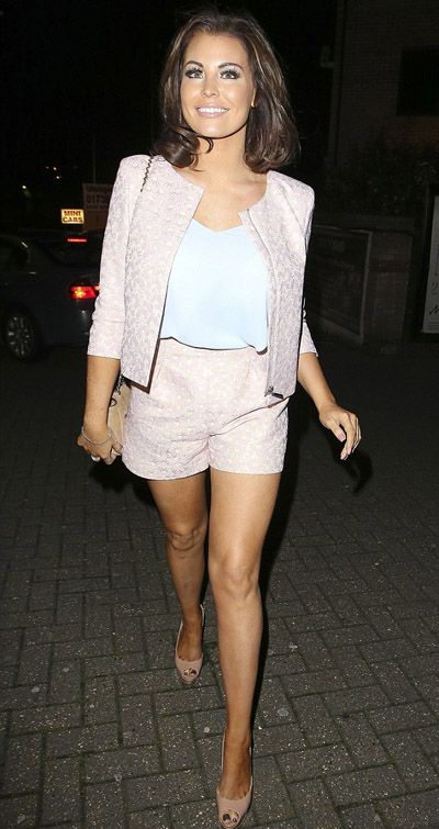 Jessica Wright wows in a blush pink short-suit as she heads out for a meal with friends TOWIE star Jessica Wright wows in a blush pink short suit She's well known for rocking bodycon dressed and mini skirts,