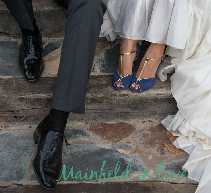 Mainfeld in love: Zapatos de novia azules
