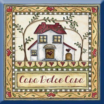 """formella quadrata in legno """"Casa dolce casa"""" idea regalo, artigianato italiano, made in Italy, con frase scritta, spiritosa, fuori stanza, appendi porta, fuori porta, tavola country: Amazon.it: Casa e cucina"""