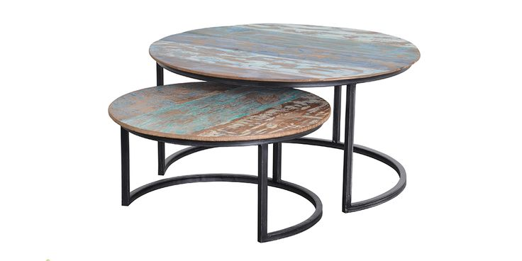 d-Bodhi Solo Coffee Table's come in a set of two. Designed with a rustic style these coffee tables with add a pop of colour and style to your living area.   #HunterFurniture for #furniturehunters