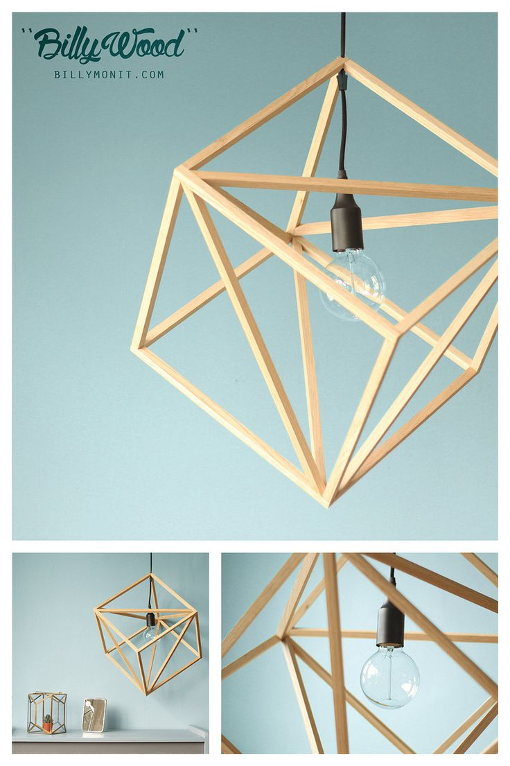 BillyWood - Suspension en bois + Cable tissu