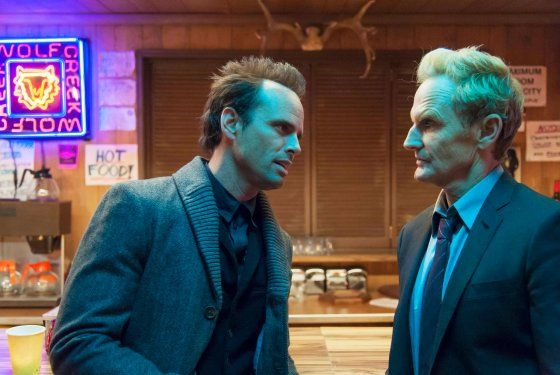 JUSTIFIED -- Kin -- Episode 5 (Airs Tuesday, February 5, 10:00 pm e/p) -- Pictured: (L-R) Walton Goggins as Boyd Crowder, Jere Burns as Wynn...