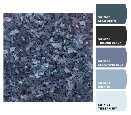 Another view of Blue Pearl Granite