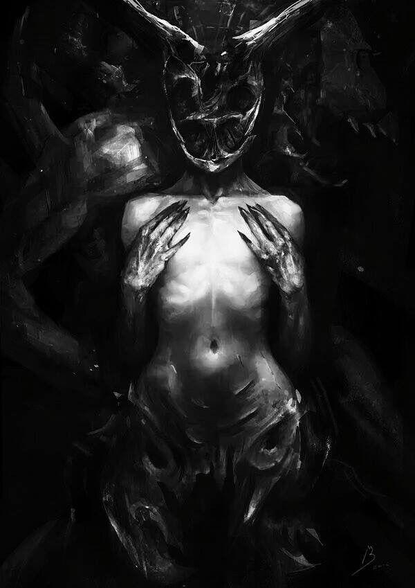 Nude art gothic dark