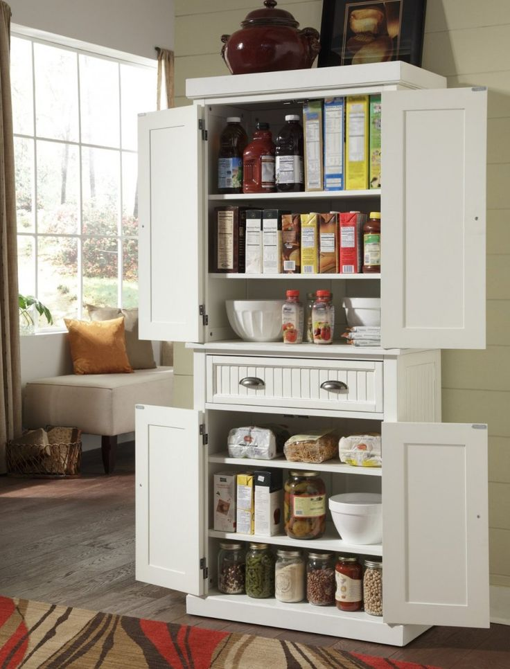 Awe-inspiring stand alone pantry for kitchen with vintage metal drawer handles