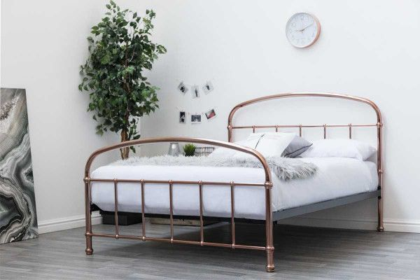 Lichfield Rose Gold Copper Victorian Style Metal Bed Frame Metal