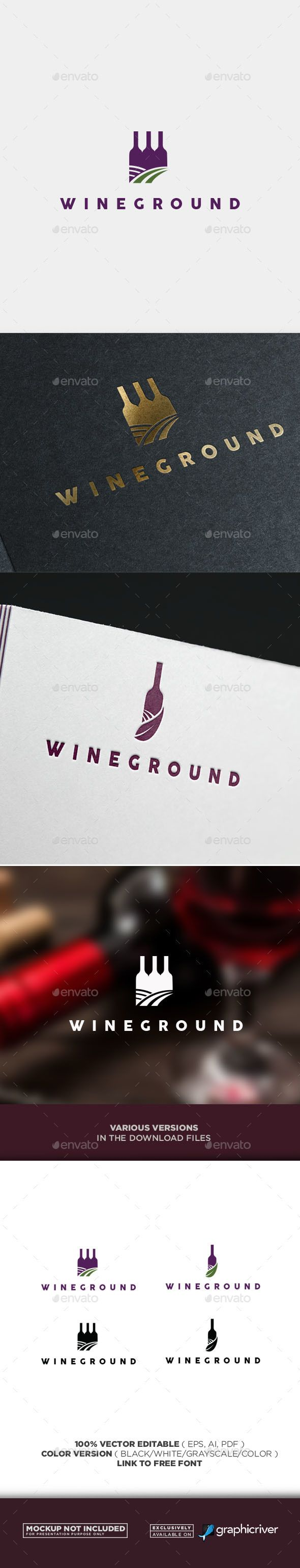 Modern Wine Logo — Vector EPS #wine #clean • Download ➝ https://graphicriver.net/item/modern-wine-logo/20042520?ref=pxcr