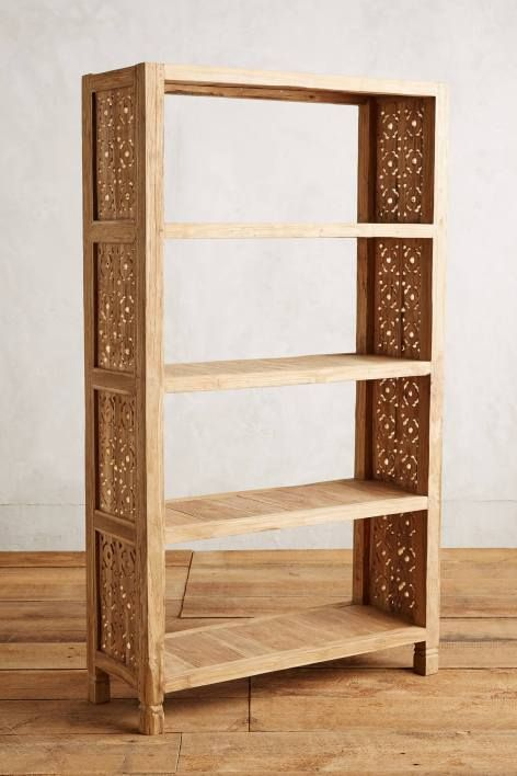 Handcarved Fretwork Bookcase                                                                                                                                                                                 More
