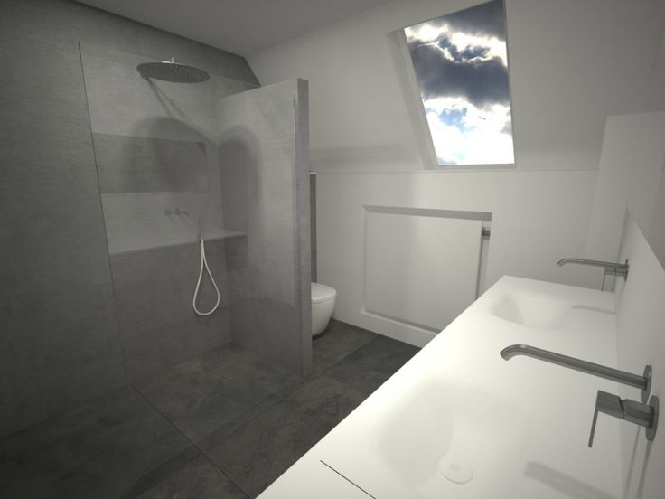 25 beste idee n over natte ruimte badkamer op pinterest badkuip badkamerontwerp en rustiek - Badkamer onder het dak ...