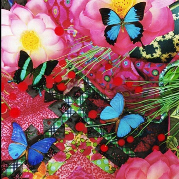 「蜷川実花・蜷川宏子 二人展〜写真とパッチワーク・キルト、母と娘のコラボレーション」 @ninagawamika- #webstagram