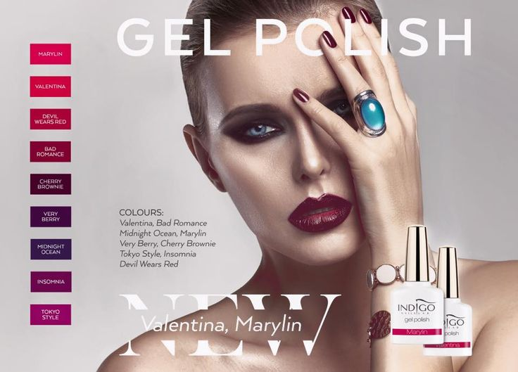 Devil Wears Red, Bad Romance, Cherry Brownie, Very Berry, Midnight Ocean, Insomnia, Tokyo Style - New Gel Polish - 100% cover! #gelpolish #nailart #nails #polish #new #wow