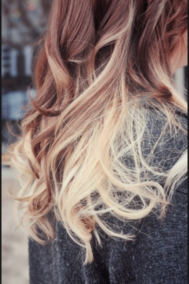 This is sort of like what I want!! Only the darker color on top would be my natural hair color