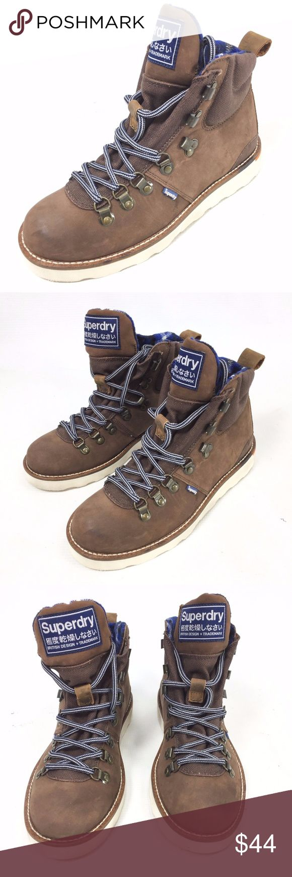 SUPERDRY Suede Brown Hiking Boots Size 6 NEW SUPERDRY Men's Suede Brown Hiking Boots Size 6 Lace Up NEW   Store display; Some marks on the side of the sole and a spot on the left toebox; See Photos for details  The item will be shipped either the same or next day  Send me a message if you have any questions Superdry Shoes Boots