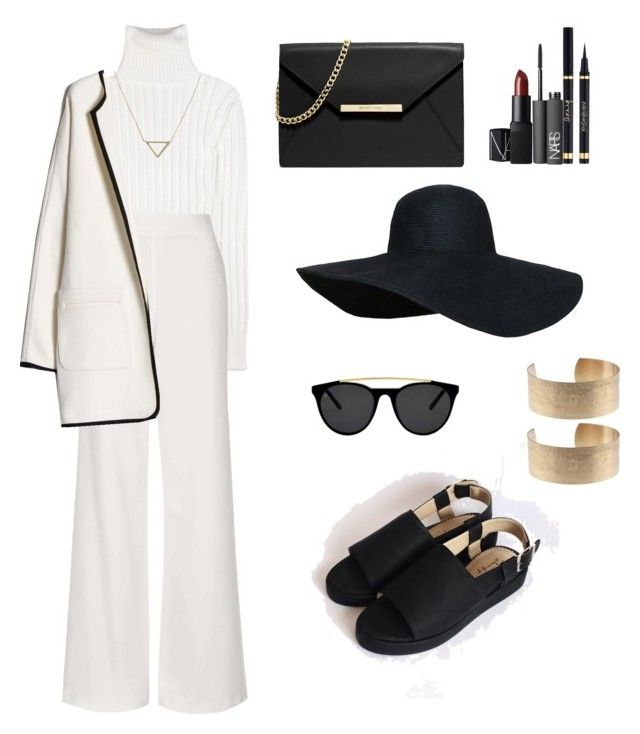 Flaminggo merope by syifasyhdh on Polyvore featuring polyvore, fashion, style, Calvin Klein Collection, MANGO, Topshop, MICHAEL Michael Kors, Banana Republic, Smoke & Mirrors and NARS Cosmetics
