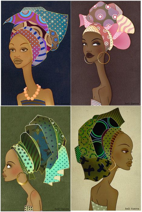 African Woman Set II Vintage Edition by raulguerra on Etsy, €5.00