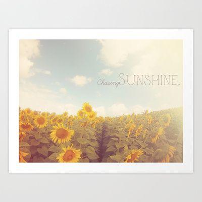 Bohemian Sunflowers Art Print $15.60