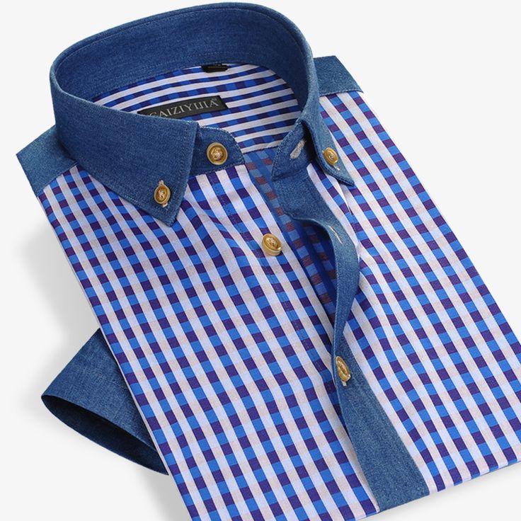 Cheap Estilo del verano Hombres Camisa A Cuadros de Algodón de Manga Corta Camisa de Vestir Casual Slim Fit Famosa Marca de Moda Más Tamaño 4XL Alta calidad, Compro Calidad Camisas casuales directamente de los surtidores de China: Estilo del verano Hombres Camisa A Cuadros de Algodón de Manga Corta Camisa de Vestir Casual Slim Fit Famosa Marca de Mo