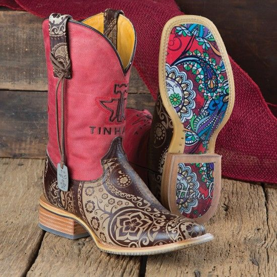 Tin Haul Ladies' Paisley Rocks Boots.