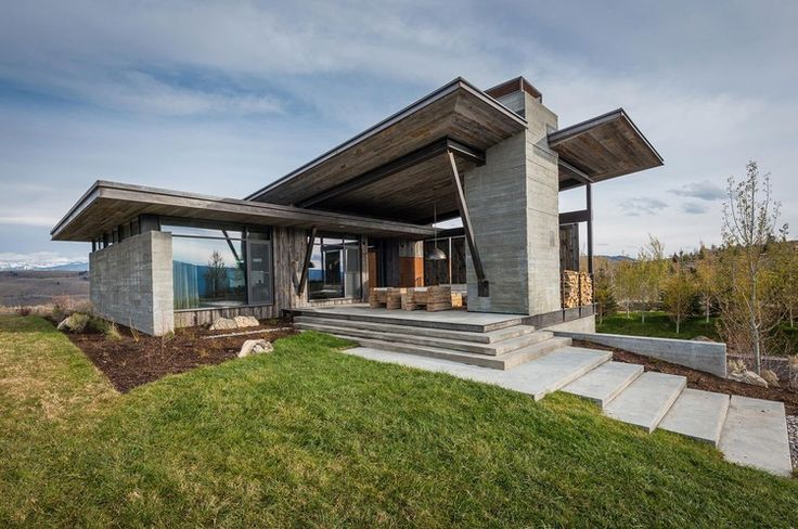 This modern 5,400 square foot retreat designed in 2011 by Pearson Design Group is situated in Jackson Hole, Wyoming.